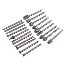 цена на 20pcs/set Diamond Rotary Files Burrs Set 3mm/0.118'' Tungsten Carbide Rotary Files Burrs with 3mm Cutting Head