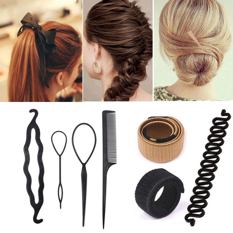 Hair Braiding Tools Disk Hair Accessories Hairpins Braiding Black Girls Magic Diy Bun Maker Comb Clip Women Hair Styling Tools Buy At The Price Of 1 19 In Aliexpress Com Imall Com