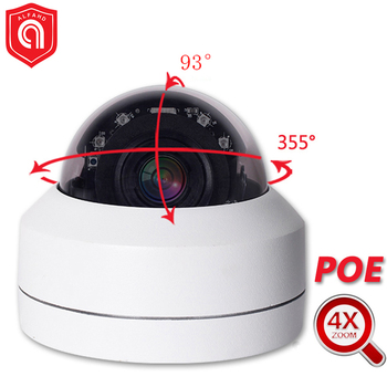 Full HD 5MP 1080P PTZ IP Camera 4X Zoom P2P Night Vision Waterproof Outdoor CCTV Mini Security Dome POE IP Camera Onvif PTZ auto tracking ptz ip camera onvif 1080p ip ptz bullet camera ip66 waterproof night vision ip camera outdoor p2p surveillance