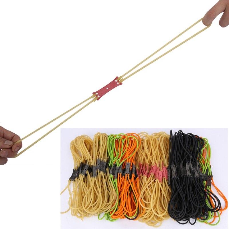 50pcs/lot Slingshot Rubber Band Slingshot Hunting Rubber Band Slingshot Elastic Tube Slingshot Accessories Toy Rubber Band