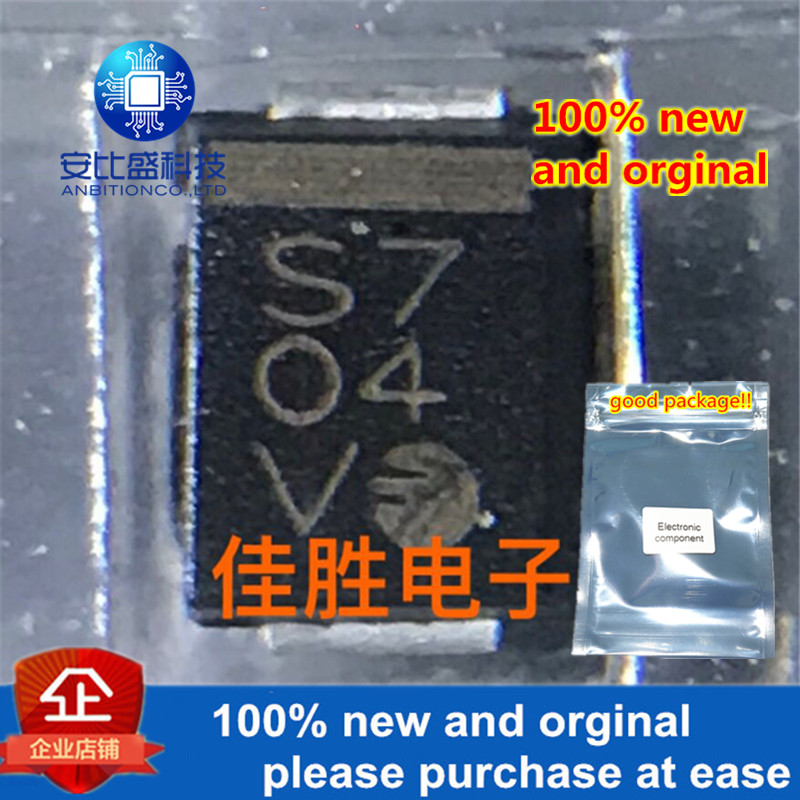 50pcs 100% New And Orginal 0 FS2M FAGOR 2A1000v High Voltage Rectifier Diode DO214AA Silk-screen S7 In Stock