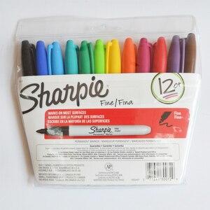 Image 2 - Sanford Sharpie Dầu Thường Trực Dấu Bút 12/24 Màu Sắc/Bộ Thân Thiện Với Môi Trường Bút Đánh Dấu Sharpie Mỹ Điểm Permanent