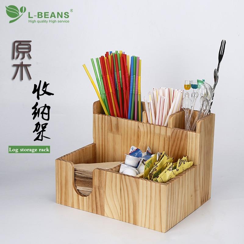Wooden Coffee Milk Tea Shop Paper Cup Cap Placed Zhi Bei Jia Paper Towel Storage Rack Storage Box