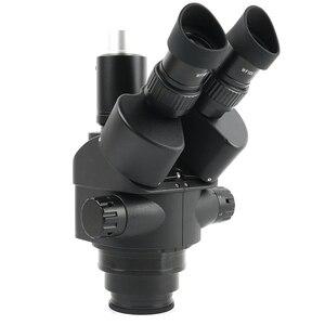 Image 5 - Microscope trinoculaire stéréo, simulateur de Foca, 3,5 x 90x144 LED déclairage annulaire, tapis de travail pour soudage et réparation de panneaux PCB