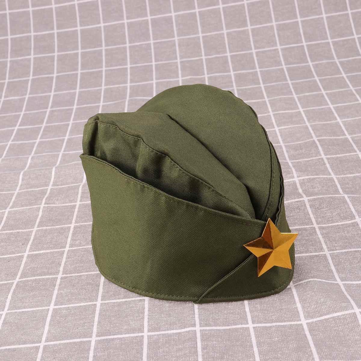 1 adet rus asker şapkası altın yıldız Sailor şapka lacivert şapka sahne performansı denizci dans tekne kap parti süslemeleri malzemeleri