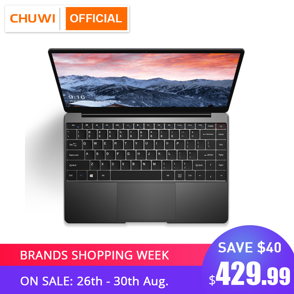 CHUWI AeroBook 13.3 Inch Intel Core M3 6Y30 Windows 10 8GB RAM 256GB SSD Laptop with Backlit Keyboard Metal Cover Notebook toilet seat