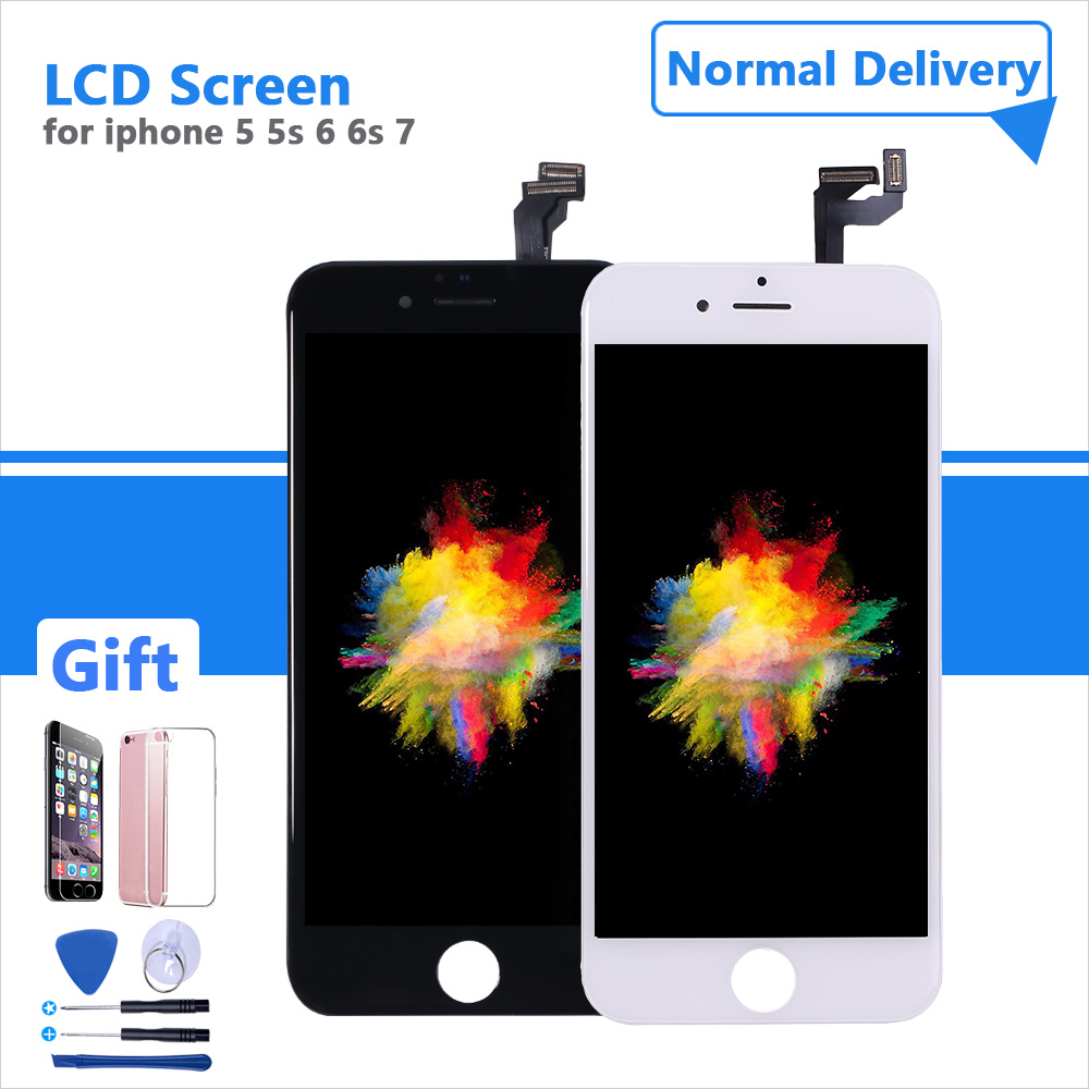 AAAA+ Quality Assembly LCD Display Pantalla For IPhone 6s 6 7 5 5s LCD Screen Touch Digitizer + Tools + Protective Glass Film