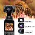 Для DJI карман 2 магнитные установки Широкоугольный макро объектив «рыбий глаз» Vlog съемки карманный портативный монопод с шарнирным замком О...