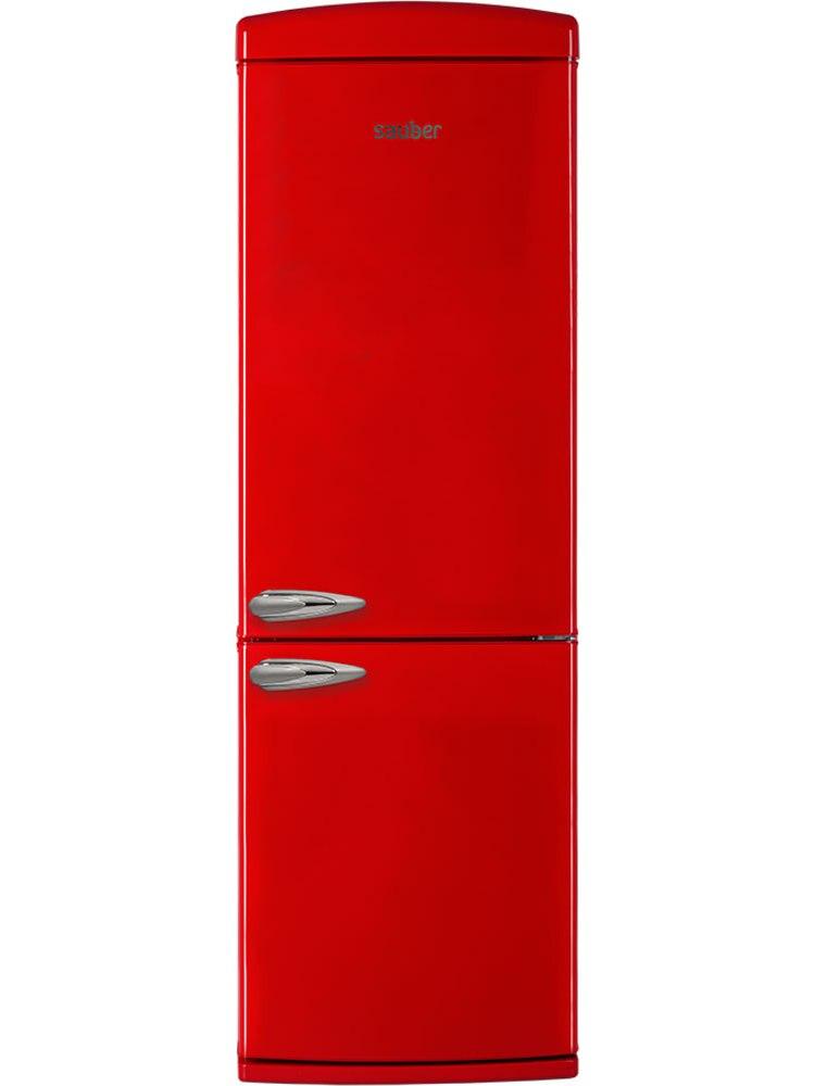 Refrigerator Combi Sauber Scr190R TO + High 190 Cm Width 60 Cm Red