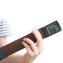 Карманная гитара дерево + пластик портативный с экраном Дисплей
