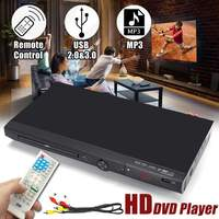 110V 240V USB Portable Multiple Playback DVD Player Full HD 1080p DVD CD MP3 Disc LED Display Player Home Theatre System