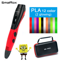 SMAFFOX 3D pen support  ABS and PLA filament diy drawing with lcd display printing 5V 2A adapter
