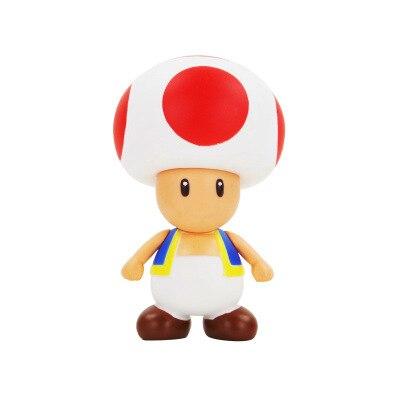 Anime Super Mario Bros poupée 12cm Bowser Koopa Yoshi Mario fabricant Luigi champignon pêche Wario PVC Figure jouets enfants cadeau