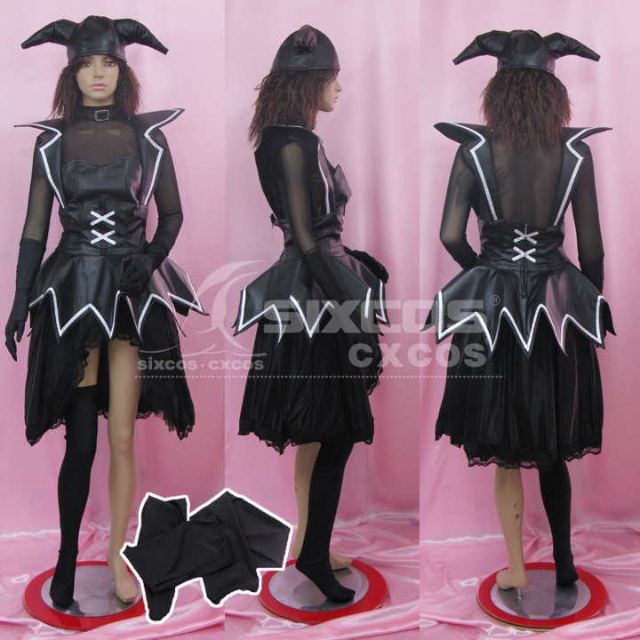 Mabinogi Sakyubasu Cosplay <font><b>Costume</b></font> <font><b>Sexy</b></font> Black Small Demon Dress Female <font><b>Halloween</b></font>/Party Role Play Clothing Custom-Make Any Size image