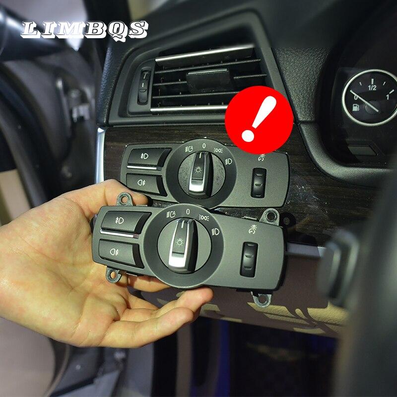 Far anahtarı f10 f01 f30 e60 e90 BMW 3 5 7 serisi yüksek kaliteli kafa ışık düğmeleri yedek ön ışık ayar anahtarı