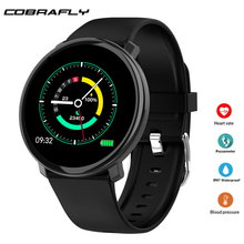 Cobrafly Smart Watch for men full touch screen fitness bracelet with pressure measurement IP67 waterproof Android IOS PK B57
