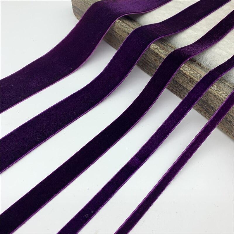 6 мм-38 мм фиолетовая бархатная лента для упаковки подарков ручной работы, товары для упаковки, украшения для домашвечерние, рождественские л...