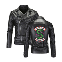 Southside Riverdale Turn-down collar PU Leather Jackets Serpents Fashion Men Coo