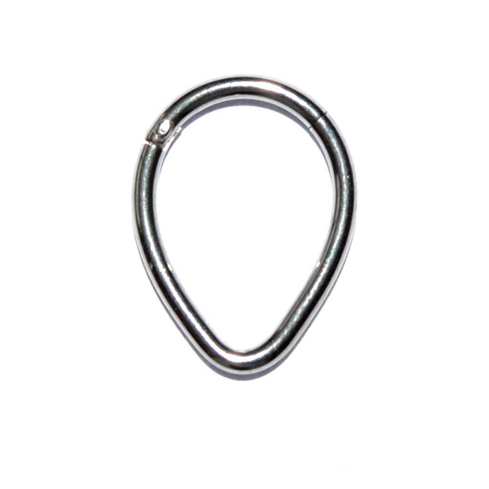 1PC נירוסטה מחץ Clicker חישוק טבעת האף Labret אוזן Tragus סחוס Daith Helix עגיל הרבעה פירסינג תכשיטים