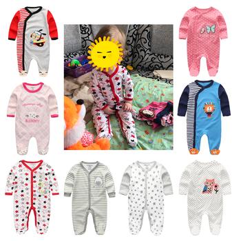 2020 Unisex śpioszki dla niemowląt 0-12 miesięcy odzież dla noworodka zestaw małe dziewczynki ubrania ubranka chłopięce dla niemowląt Cooton Roupa de bebe piżamy tanie i dobre opinie Fetchmous W wieku 0-6m 7-12m baby 0-3 miesięcy Dzieci w wieku 4-6 miesięcy 7-9 miesięcy 10-12 miesięcy newborn foot rompers