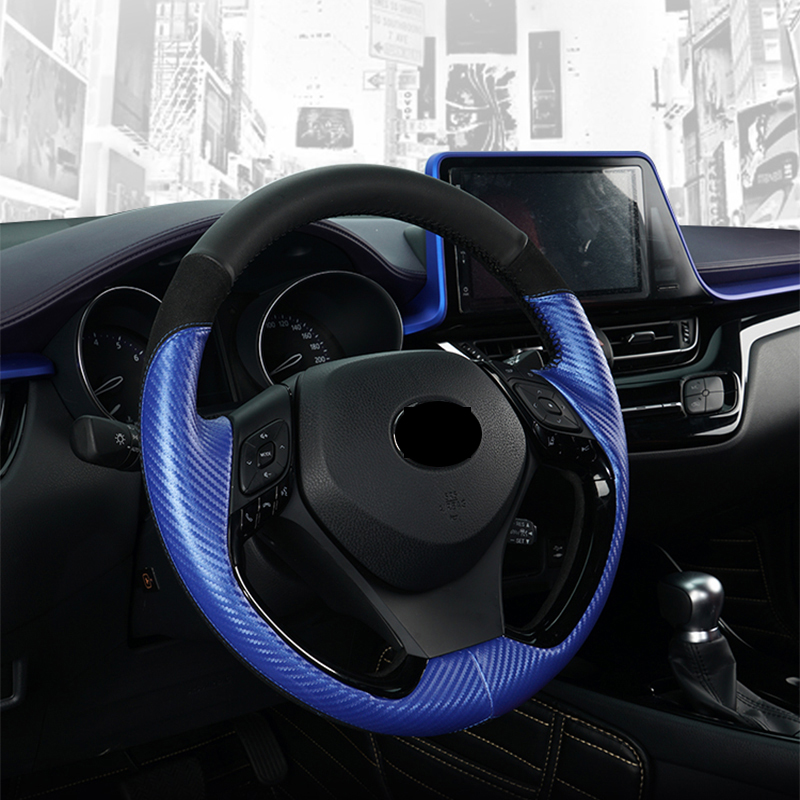 PU Leather Internal Accessories <font><b>Car</b></font> Styling Decoration Steering <font><b>Wheel</b></font> <font><b>Cover</b></font> For <font><b>Toyota</b></font> CHR C-HR 2017 2018 image
