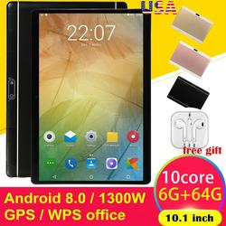 10.1 Inch HD Game Tablet Computer PC Android 8.0 Tien-Core GPS WIFI Dual Camera