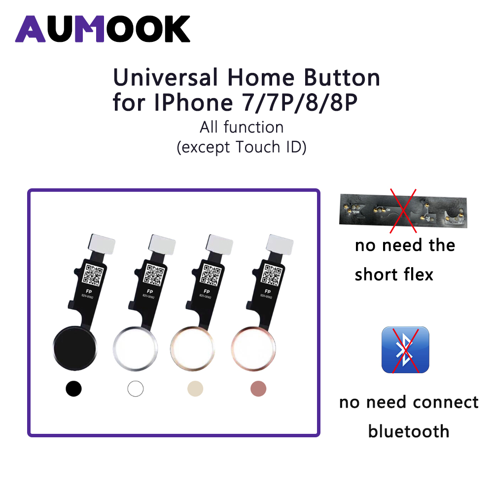 Universal Home Button For IPhone 7 7 Plus 8 8 Plus With All Function Work Without Touch ID Function No Bluetooth No Short Flex