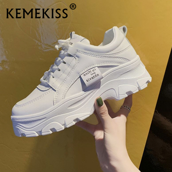 KemeKiss Sneakers Casual Vulcanized Shoes Thick Sole Round Toe Woman Fashion Outdoor Footwear Size 35-40 - discount item  49% OFF Women's Shoes