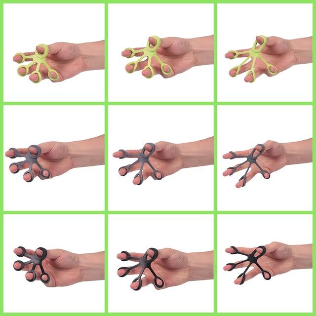 Tcare Silicone Five Finger Exerciser Finger Puller Hand Grip Strengthener Finger Trainer Extensor Fitness Equipment Forearm Tool 5