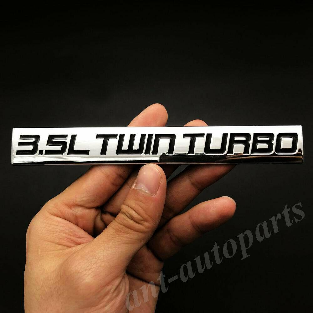 Металлический хром 3.5L Twin Turbo Engine Автомобильный багажник боковая эмблема значок наклейки