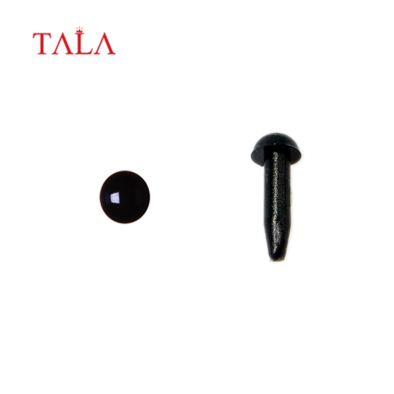 3mm Safety Black Animal Amigurumi Eyes plastic craft doll eyes for Crochet stuffed toy DIY accessories passed EN71 free shipping in Dolls Accessories from Toys Hobbies