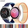 Ремешок нейлоновый для Galaxy Watch 3, браслет для active 2 Samsung Gear S3 Frontier Huawei watch GT 2 2e pro, 20 мм/22 мм, 45 мм/46 мм/42 мм