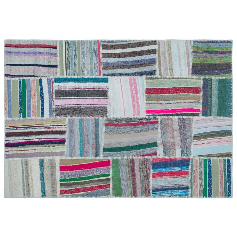 Handmade Multicolor Vintage Patchwork Rug Area Rug 160x230 Cm-5'3''X7'7''