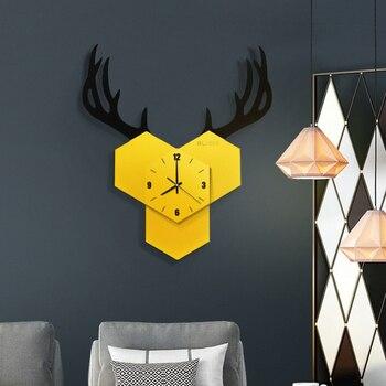Тихая Скандинавское искусство деревянные настенные часы современный дизайн белый креативный милый 3 D настенные часы черный большой Zegary Do ...