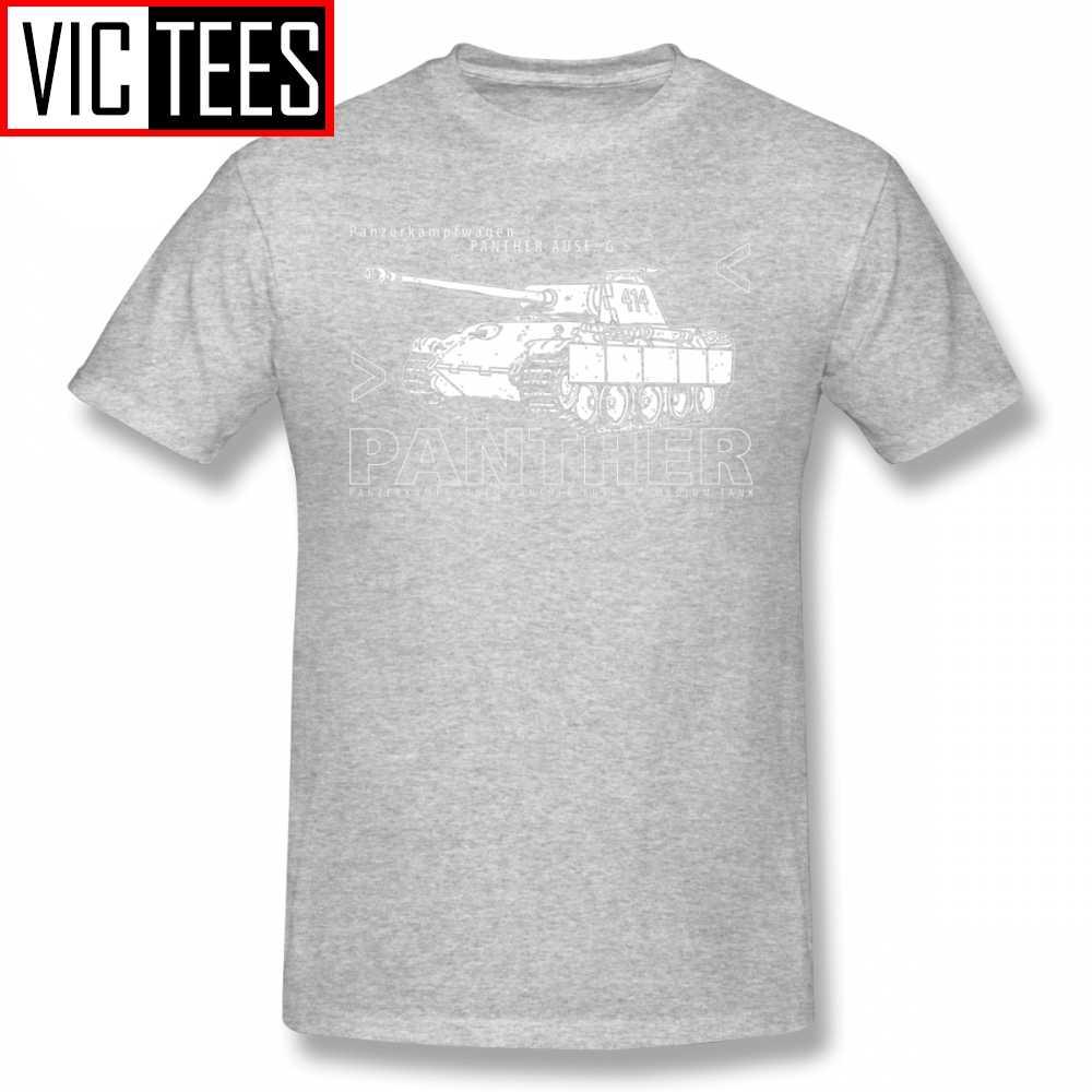 Herren Wehrmacht T Shirts Panther Tank T-Shirt Baumwolle Spaß T Shirt Street Druck Männer T-shirt