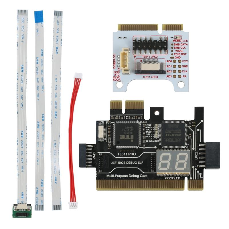 Multifunction Diagnostic Card LPC-DEBUG Card PCI PCI-E LPC Motherboard Diagnostic Test Tool Kit For Laptop Computer Mobile Phone