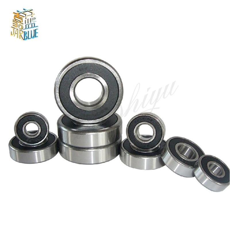 5x16x5 mm 10pcs 625-2RS Chrome Metal Rubber Sealed Ball Bearings 625RS BLK