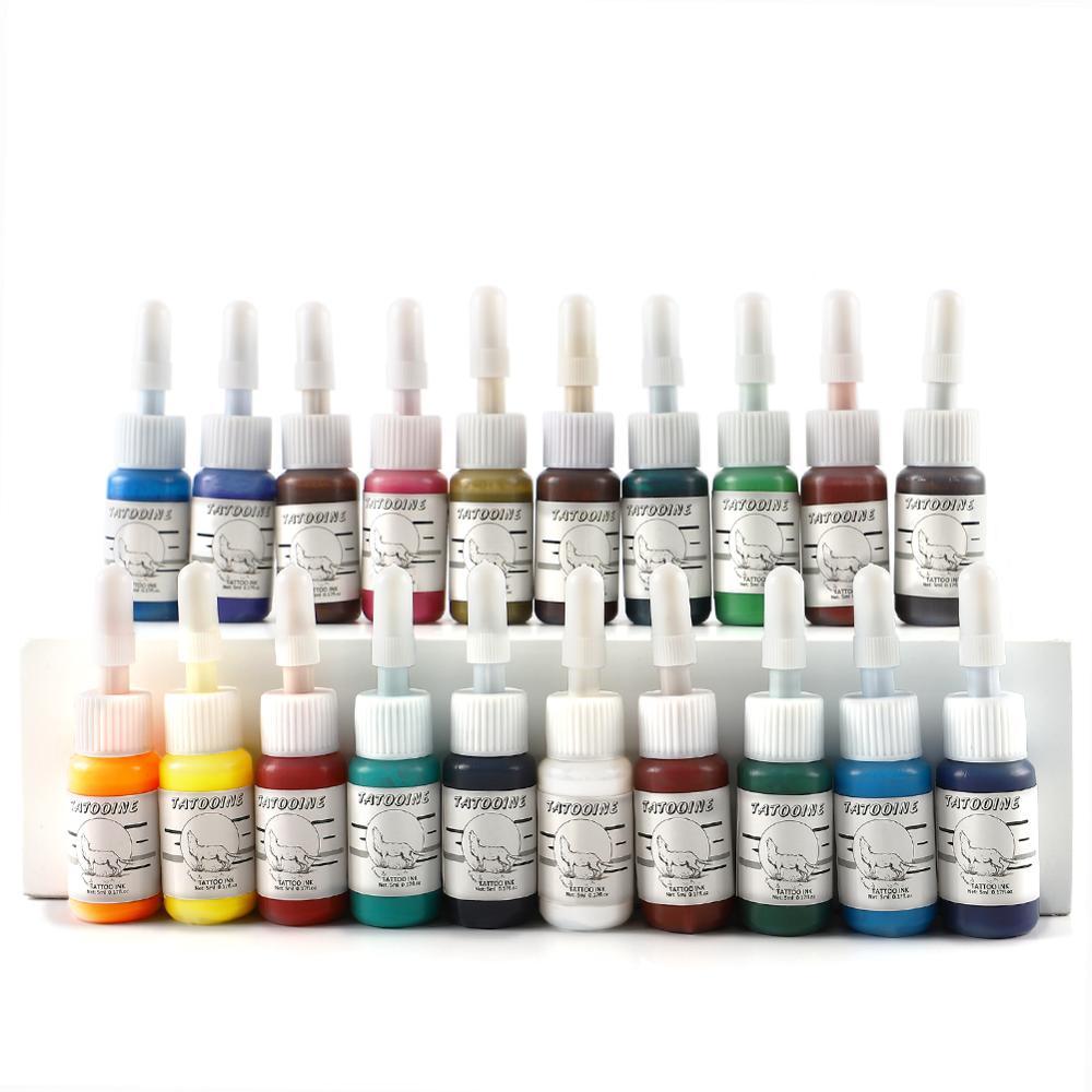 20pcs/set Tattoo Ink Kits Long Lasting Tattoo Pigment Permanent Makeup Painting Set Eyebrow Body Art Tools For Tatto Supplies