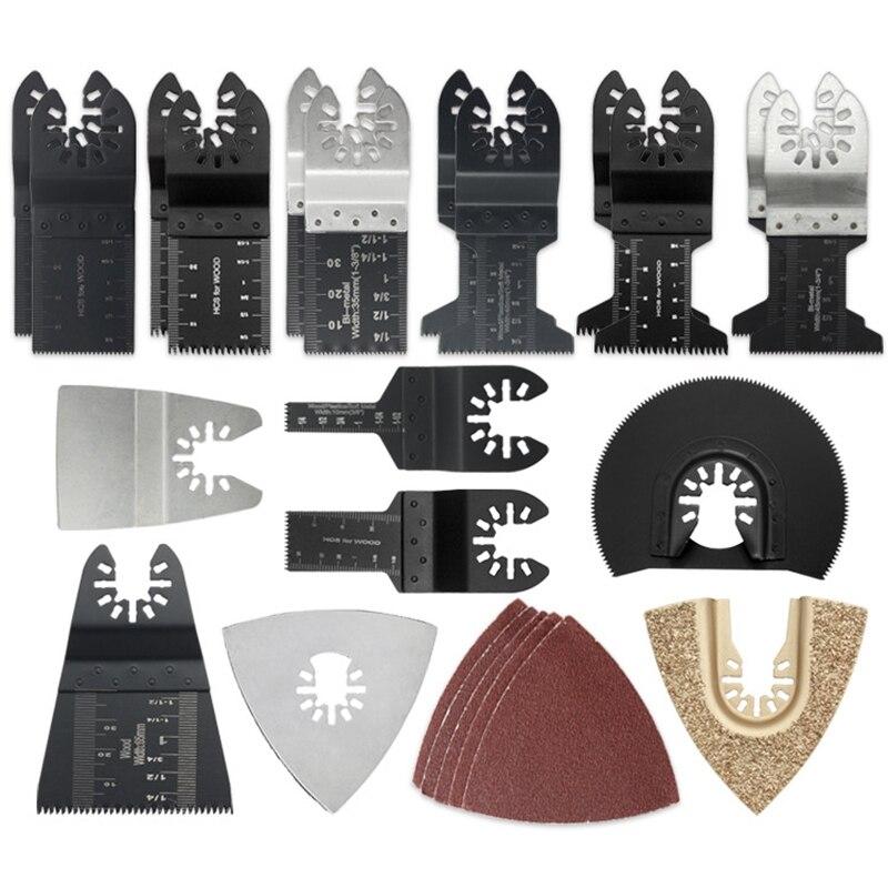 24 Pcs Oscillating Multi Tool Saw Blades Kit For Bosch Fein Makita Multi Tool Blades Set Kit Multi Tool Blades