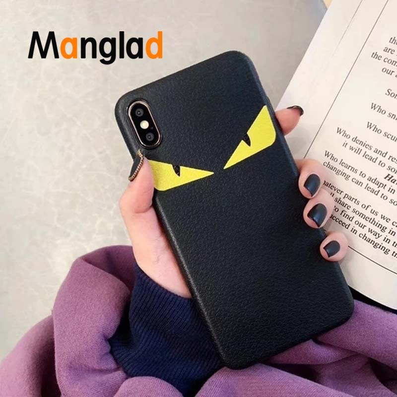 Imitation Leather Mobile Phone Case For IPhone 6,7,8 Plus, X, XS, And XR Lover Demon Eye Pattern Phone Cases Back Shell