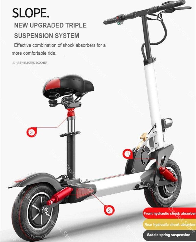 Doppel Stick Elektrische Skateboard Roller Falten Zwei Räder Elektro scooter 10 ''Leistungsstarke Elektrische Roller 1200W 48V 50 KM/H - 5
