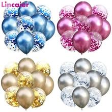10pcs 12inch Metallic Balloons Kids Birthday Party Supplies Decorations Child Children Disposable Tableware
