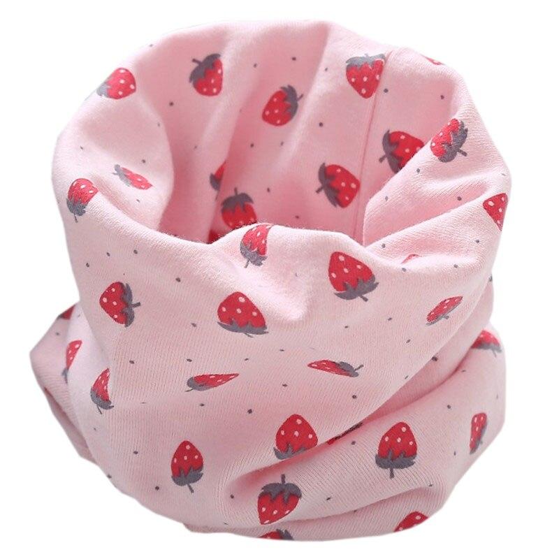 Новинка; Модный хлопковый шарф для маленьких девочек; осенне-зимний шарф для маленьких мальчиков; Детский шарф с круглым вырезом; Детские шарфы; волшебный шейный платок - Цвет: pink strawberry