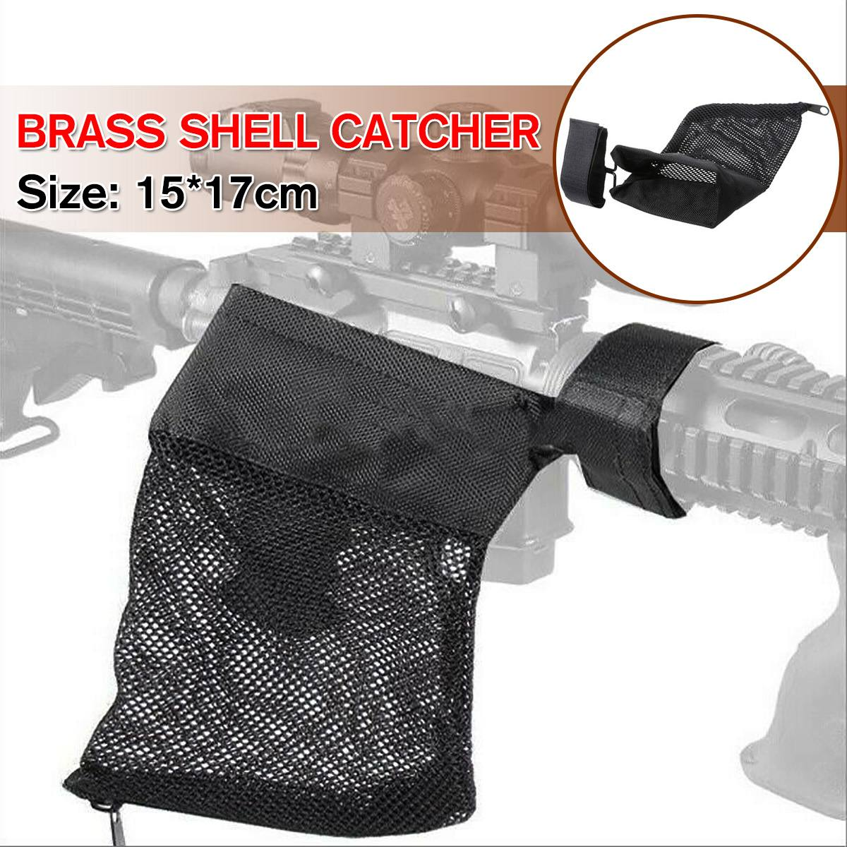Hunting Accessories Tactical Mesh Bag Military Gear Brass Shell Catcher Mesh Trap Nylon Double Mesh Bag