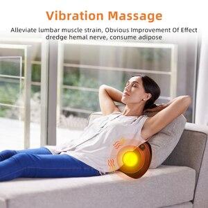 Image 5 - Elektryczna poduszka do masażu wibrator relaks ramię szyja powrót ogrzewanie ciała ugniatanie terapia podczerwienią dla Shiatsu masażer szyi