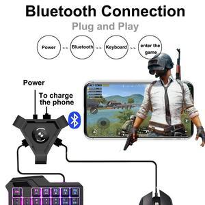 Kuulee PUBG мобильный геймпад, контроллер, игровая клавиатура, мышь, конвертер для телефона Android к ПК, Bluetooth адаптер Plug And Play
