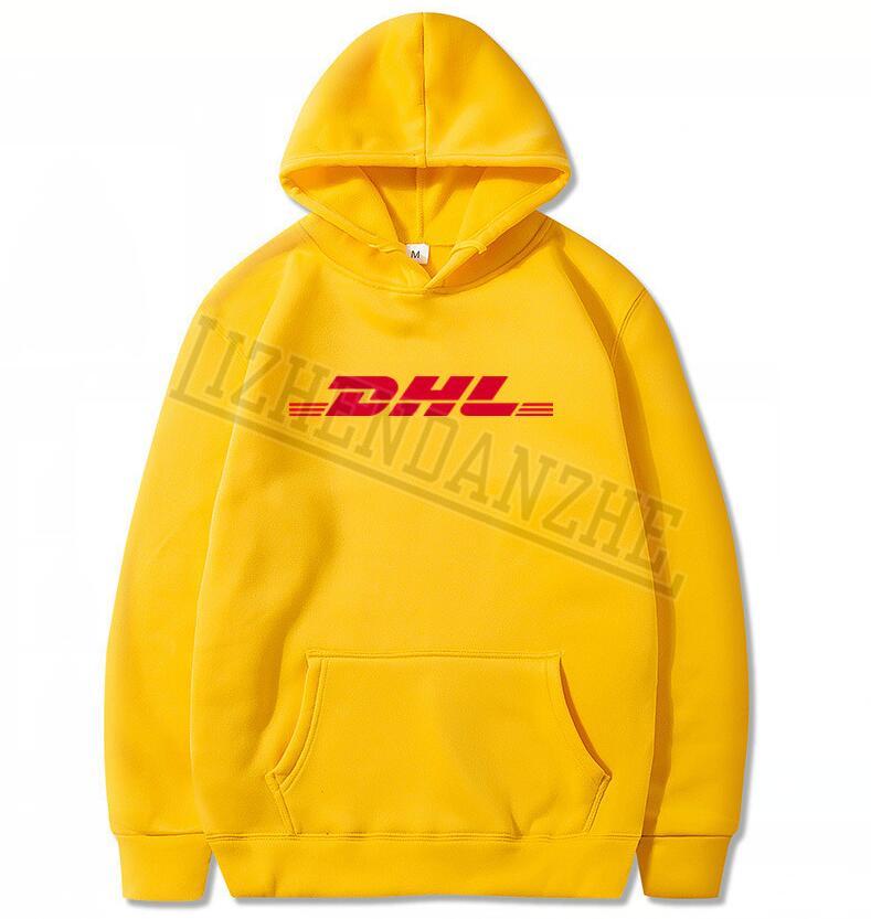 2020 New Brand Paris Fashion Vetements Air Transport DHL Hoodies Men Sweatshirts Men And Women Sweatshirt Tops Letter Yellow 073