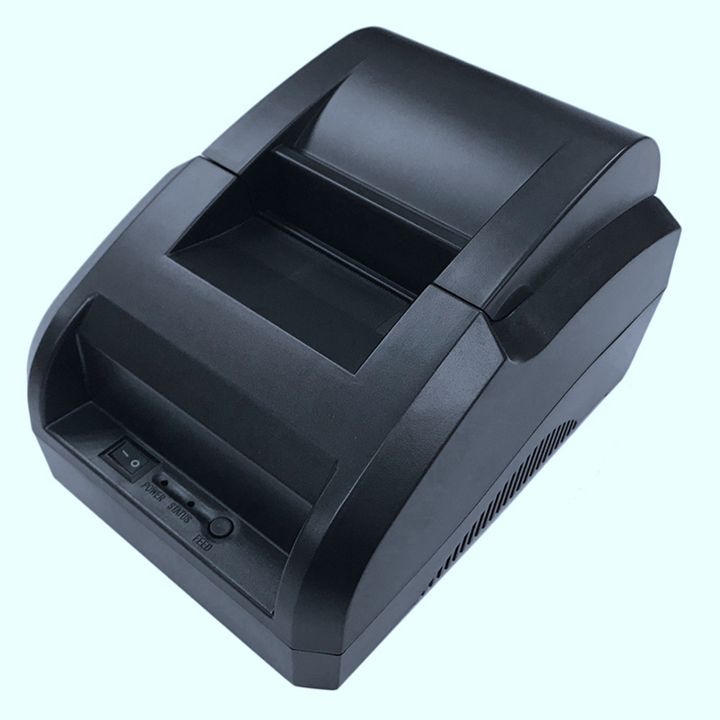 Portable 58Mm Pos Receipt Thermal Printer With Usb Port Low Noise For Windows Printing Bill Receipt Ticket Barcode Eu Plug