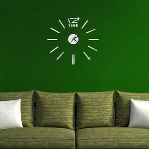 Image 5 - Design moderno Mini fai da te grande orologio da parete adesivo muto digitale 3D parete grande orologio soggiorno Home Office Decor regalo di natale