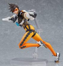 Jogo ow personagem tracer 14cm articulado figura de ação modelo brinquedos